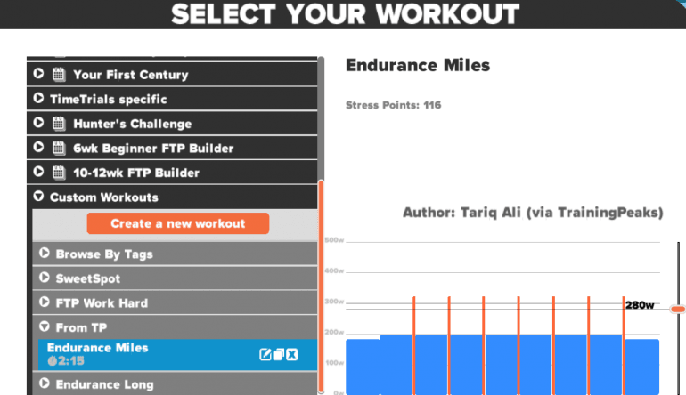 how to copy intervals in zwift create worout