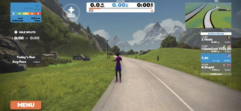 Zwift Released New Dedicated Running Routes and Workout Cloud Sync